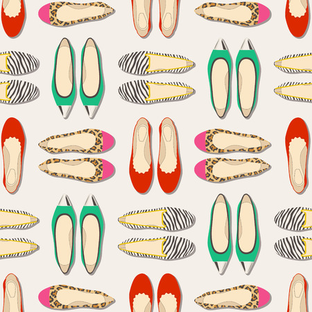 seamless shoes pattern  Vector