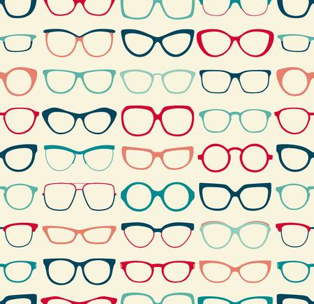 seamless sunglasses pattern  Vector