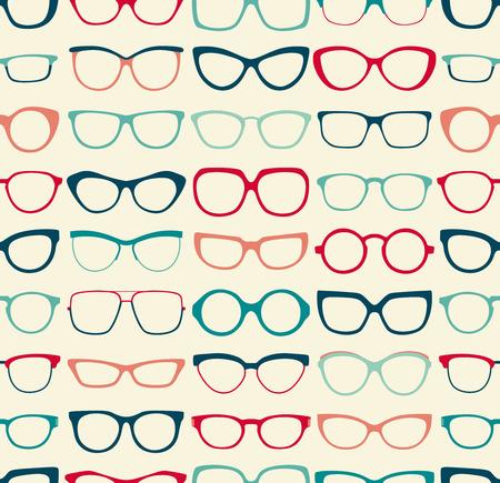 optical glass: seamless sunglasses pattern