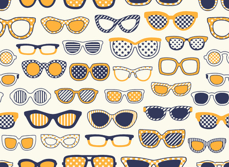 spectacle: seamless sunglasses pattern