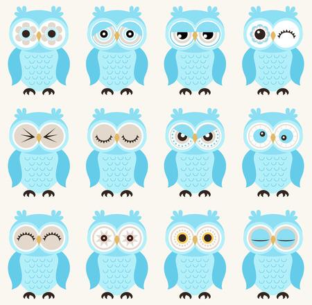 emotional love: seamless owls pattern