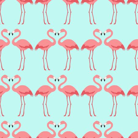 flamenco ave: patrón del pájaro del flamenco sin fisuras Vectores