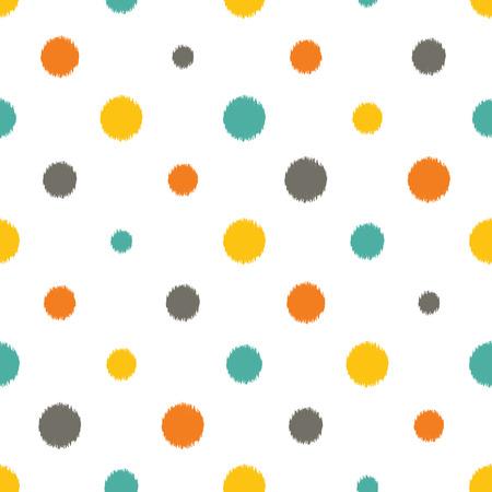 tiffany blue: seamless dots pattern Illustration