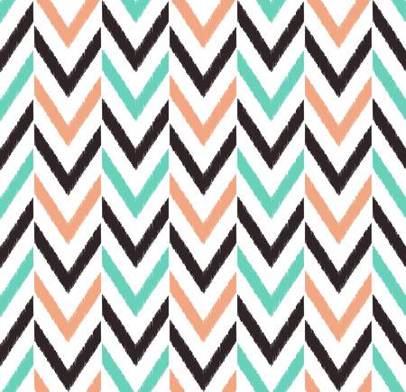 pink salmon: seamless chevron pattern  Illustration