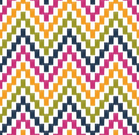 seamless wave chevron pattern  Vector