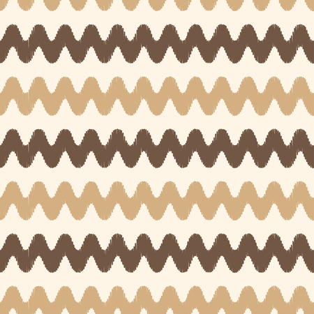 seamless horizontal wave pattern  Vector