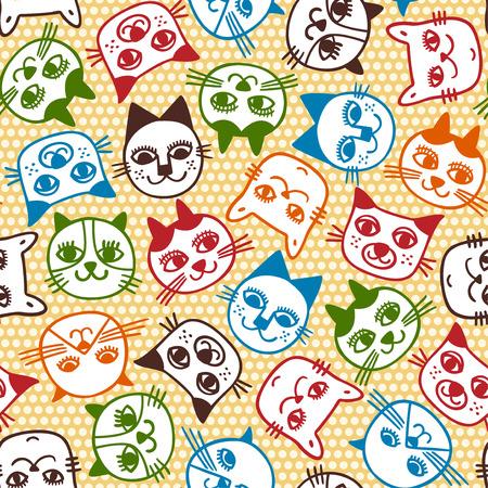 seamless cat pattern  Vector
