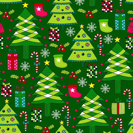 repeated: Christmas seamless pattern
