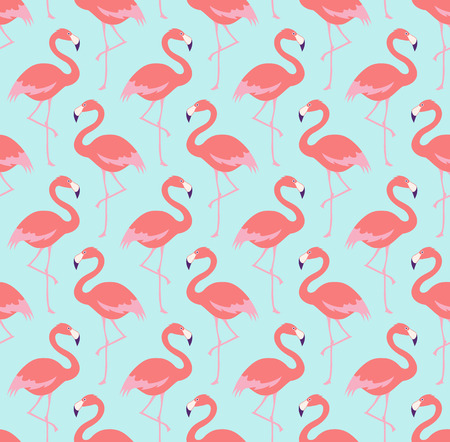 naadloze flamingo vogel patroon