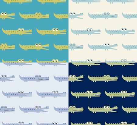 seamless crocodile pattern