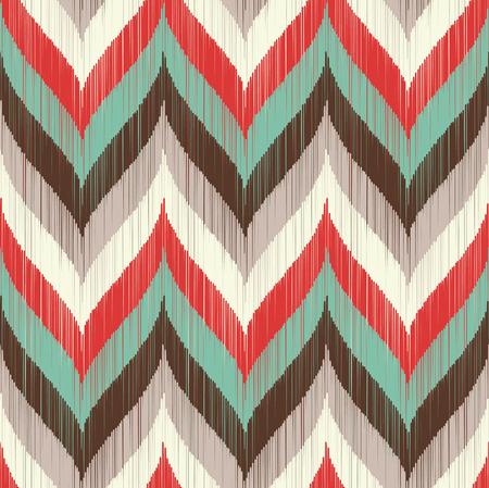 seamless braid chevron pattern  Vector