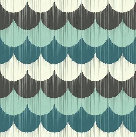 scallops: seamless ripple wave pattern