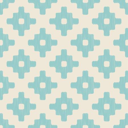 tiffany blue: seamless ethnic geometric pattern  Illustration