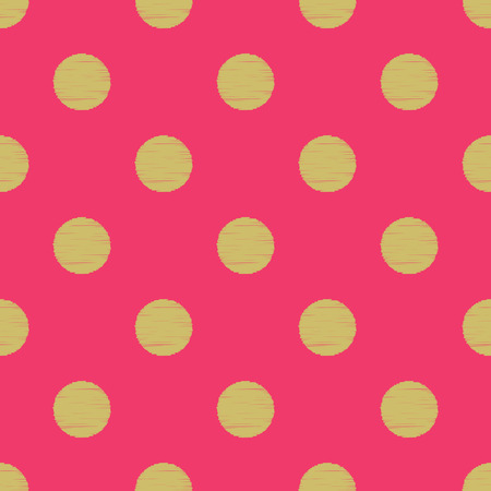 seamless circles polka dots pattern  Vector