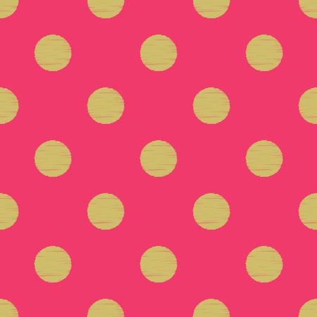 fuchsia: seamless circles polka dots pattern