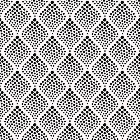 シームレスな抽象的な点線パターン