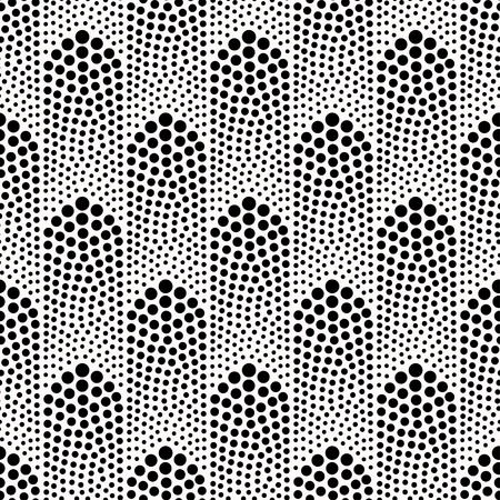 원활한 추상적 인 점선 된 패턴 일러스트
