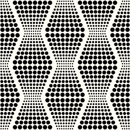 scroll tracery: seamless abstract dotted pattern  Illustration