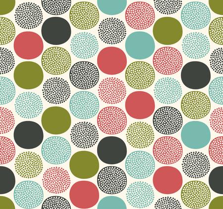 seamless abstract circles pattern  Vector