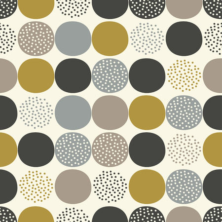 mustard: seamless abstract circles pattern