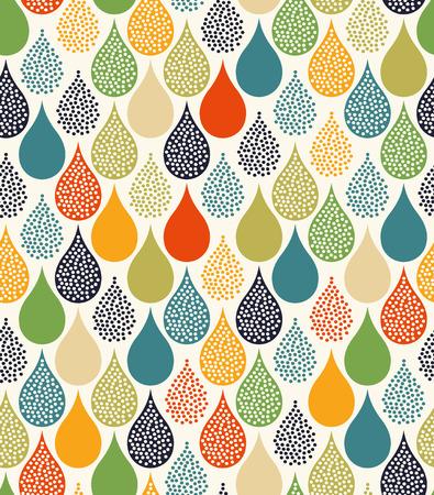 naadloze druppels water patroon