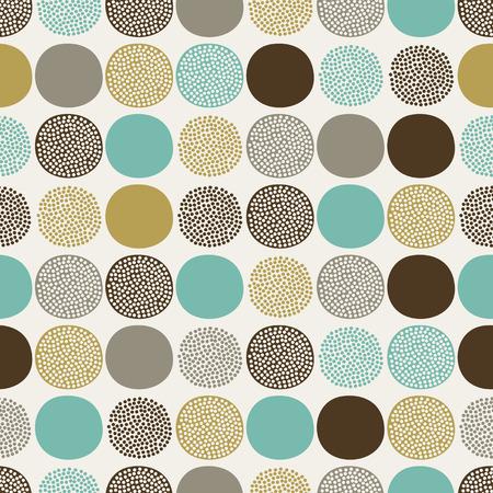 naadloze abstracte cirkels patroon Stock Illustratie
