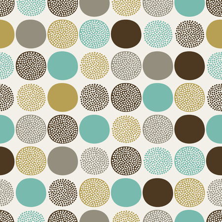 seamless abstract circles pattern