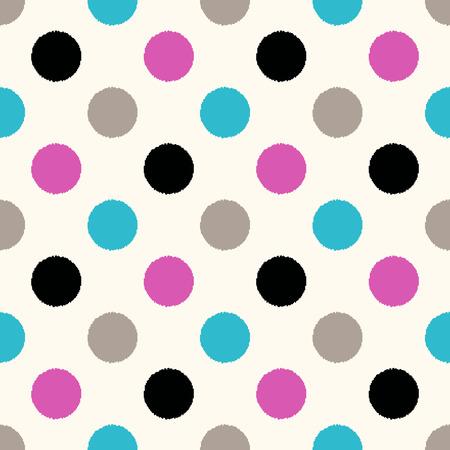 fuchsia: seamless circle dots pattern
