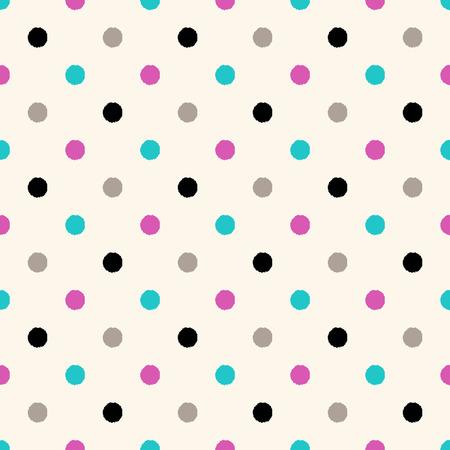 seamless circle dots pattern  Vector