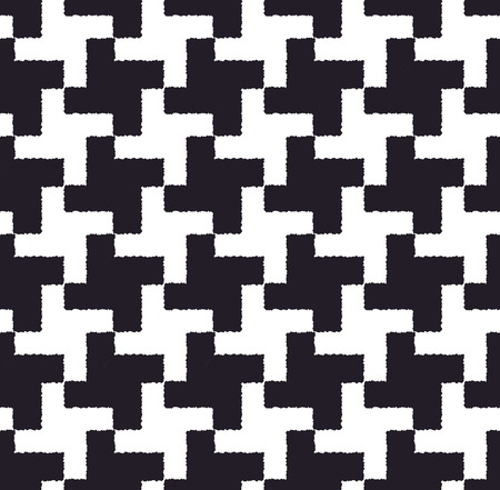 seamless checkered houndstooth pattern  Illustration