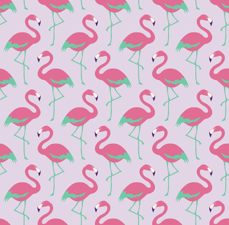 pink flamingo: seamless flamingo bird pattern