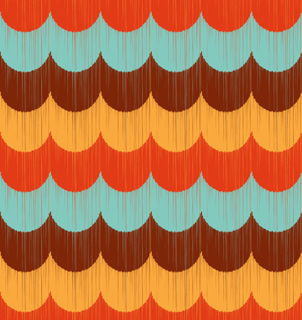 seamless wave ripple pattern Vector