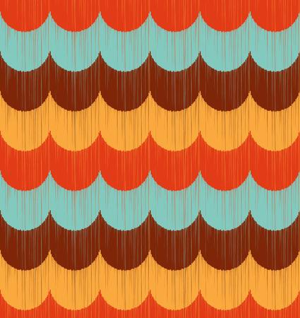 seamless wave ripple pattern Vector