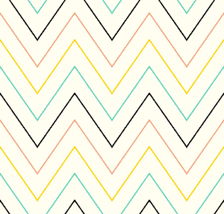 seamless chevron wave pattern  Vector