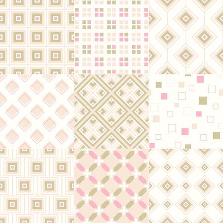 repeats: seamless retro geometric wallpaper pattern  Illustration