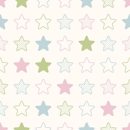 シームレスな星の背景の印刷