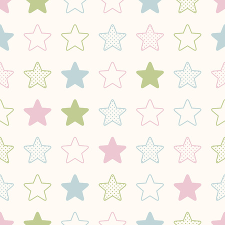 pink wall paper: seamless stars background print