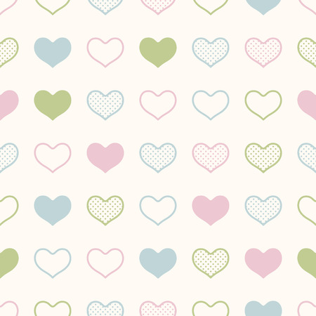 seamless heart background print