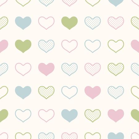 seamless heart background print