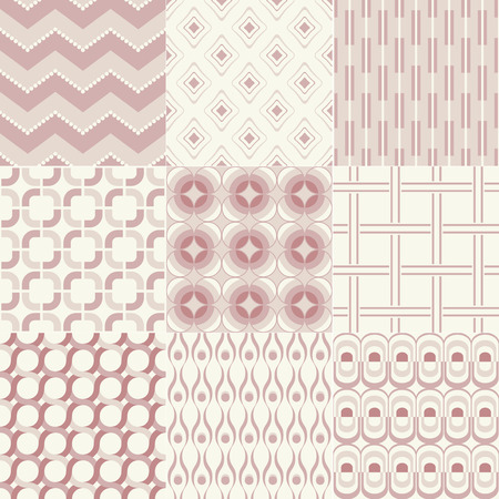 seamless geometric pattern set