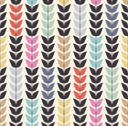 원활한 잎 패턴 배경 일러스트