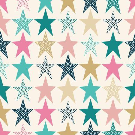 シームレスな星パターン  イラスト・ベクター素材