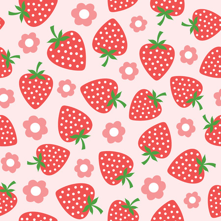 seamless strawberry illustration Imagens - 30069073