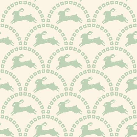 silhouette lapin: Papier peint sans joint de motif de lapin