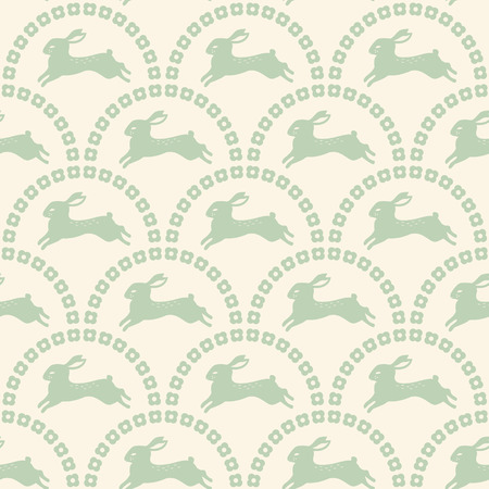 baby rabbit: seamless rabbit pattern wallpaper  Illustration