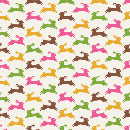seamless rabbit pattern wallpaper  Vector