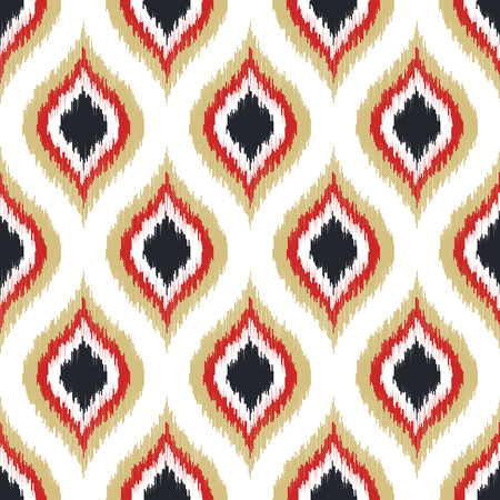 ikat: seamless geometric pattern