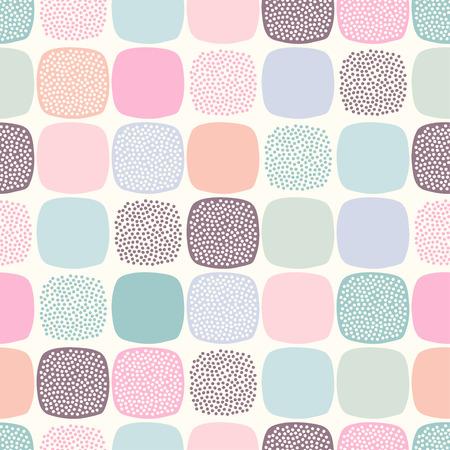 repeats: seamless geometric dots pattern  Illustration