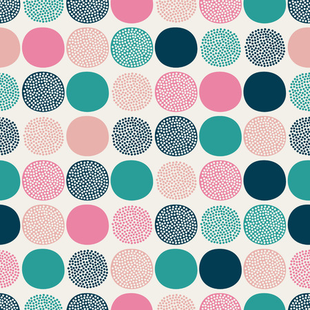 seamless geometric dots pattern  Illustration