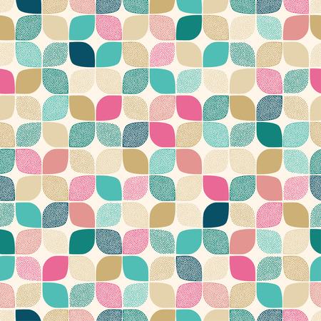 repeated: seamless geometric dots pattern  Illustration